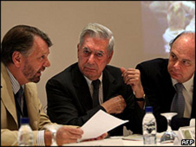 Jorge Castañeda, Mario Vargas Llosa y Enrique Krauze