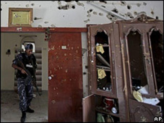 Tiroteo entre palestinos en una casa de la ciudad de Qalqilya, en Cisjordania.