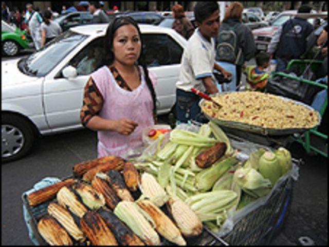 Vendedora de comida en México.