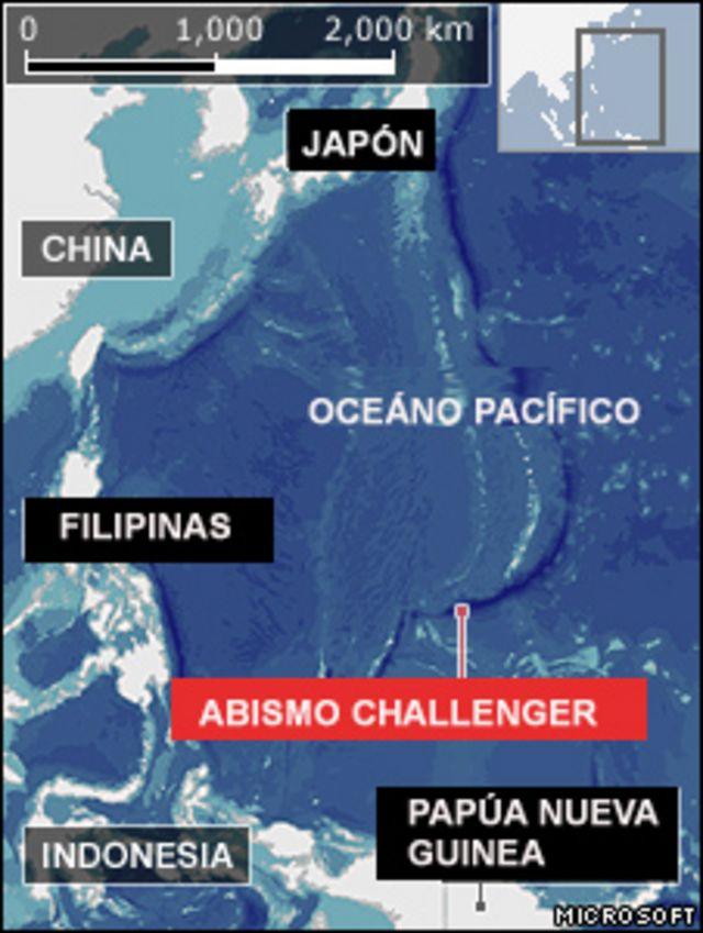 Mapa del Oceáno Pacífico