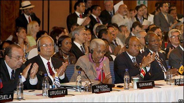 Miembros de la OEA el 3 de junio.