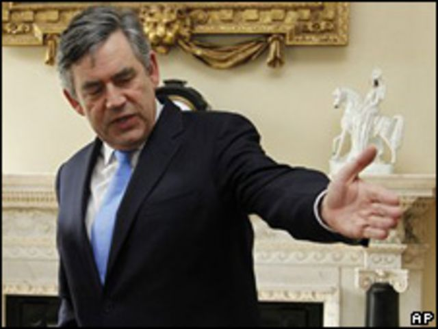 Gordon Brown, primer ministro británico.