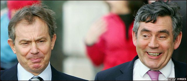 Tony Blair y Gordon Brown, en otras épocas