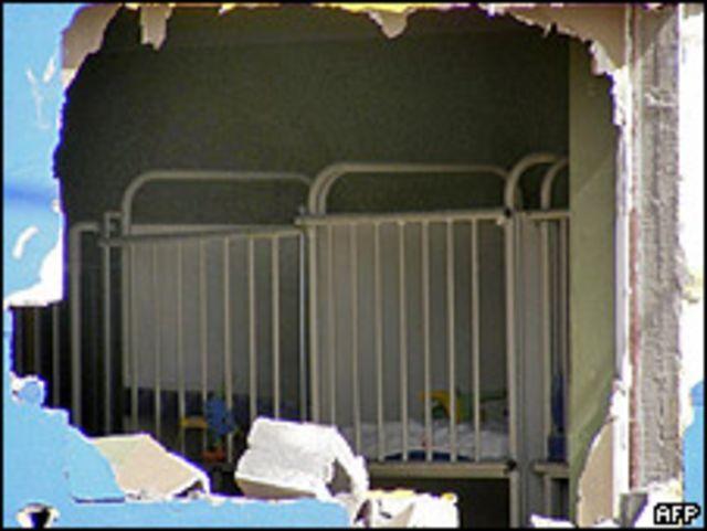 Policía acordona la zona de la guardería incendiada en Sonora. Foto de archivo.