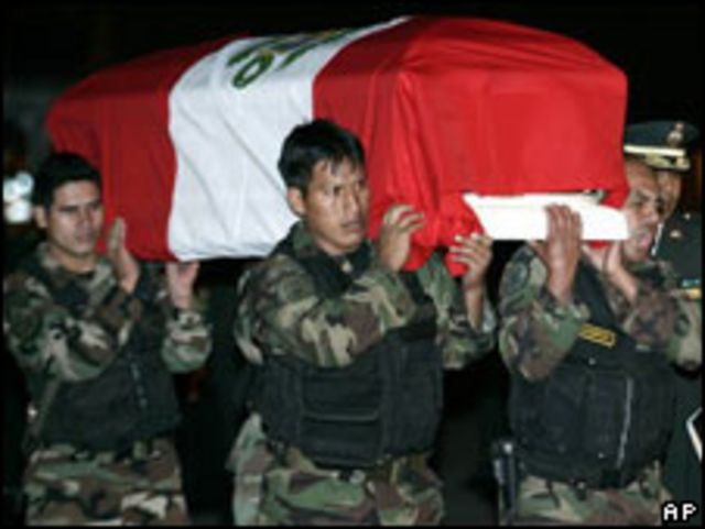 Policía muerto en Perú.