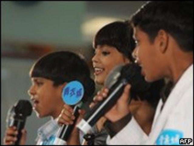"""Niños actores de """"Slumdog Millionaire"""""""