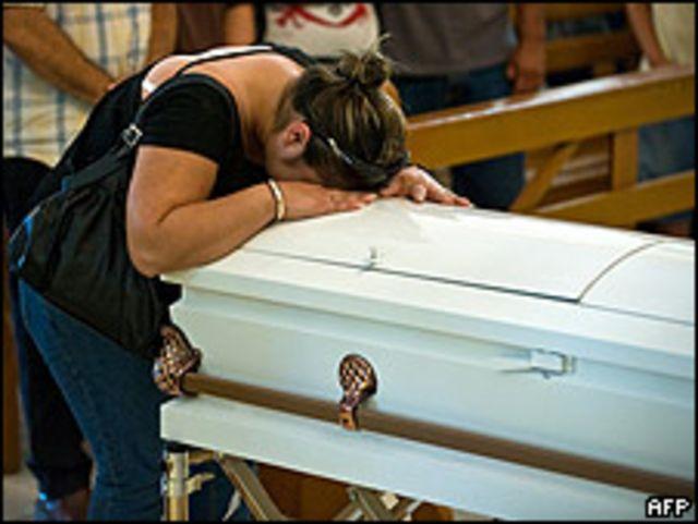 Madre de un niño fallecido de dos años.