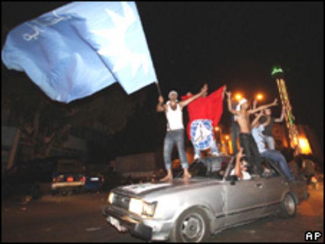 Partidarios de coalición pro-occidental celebran victoria