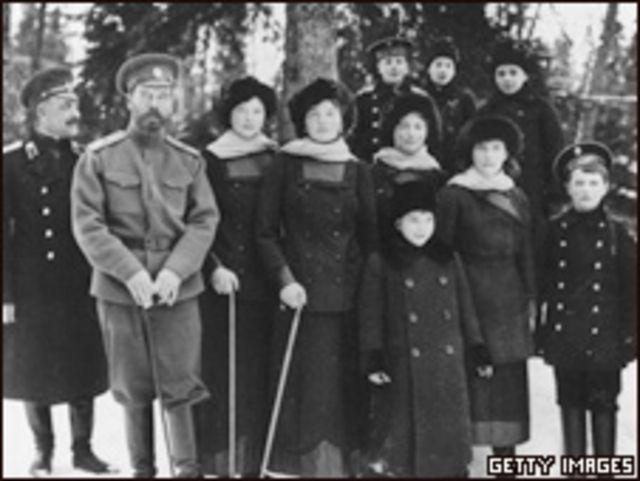 Николай II и члены его семьи в Царском селе