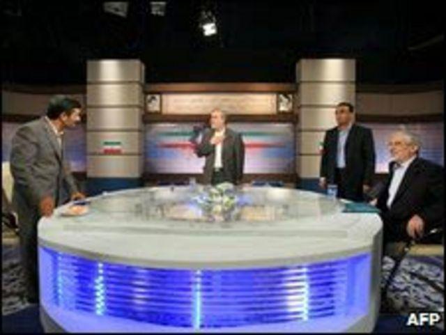 Debate televisivo entre candidatos en Irán