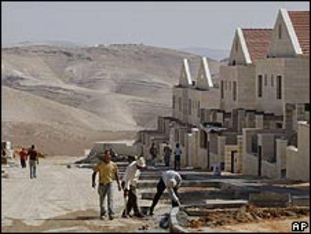 Asentamiento judío en territorio palestino.
