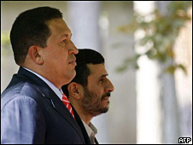 Hugo Chávez y Mahmud Ahmadinejad.
