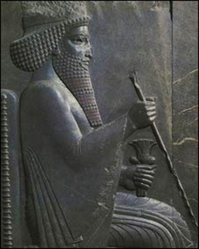 Relieve de Xerxes I, emperador persa.