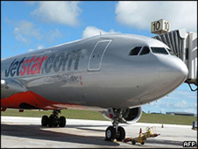 Avión de Jetstar, Airbus A330 que debió realizar un aterrizaje de emergencia