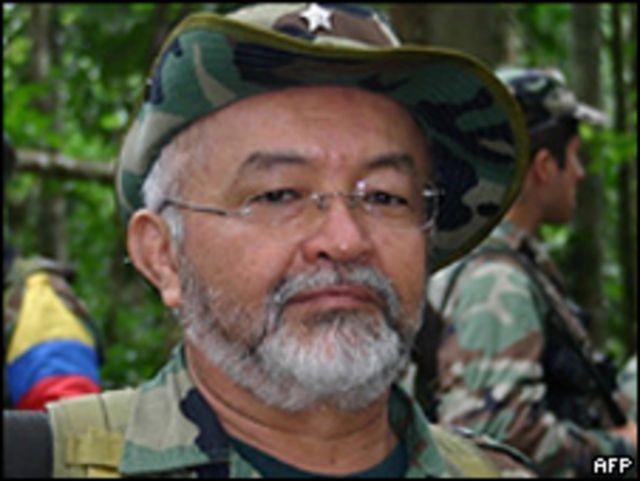 Raúl Reyes, guerrillero de las FARC, muerto el 1 de marzo de 2008.