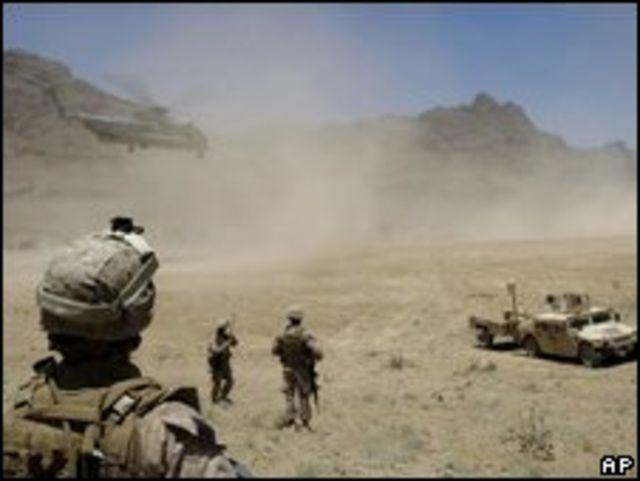 Soldados de EE.UU. en Afganistán el 11 de julio.