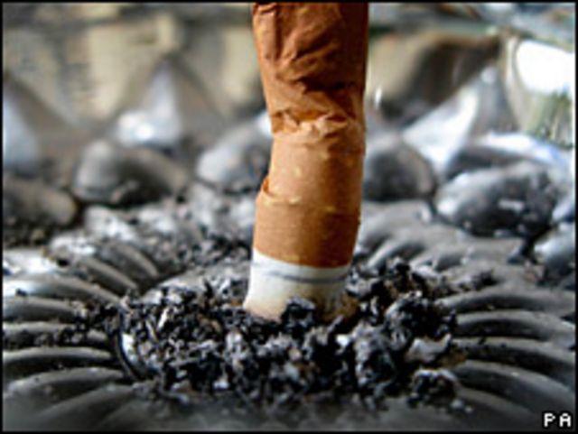 Cigarrillo apagado.