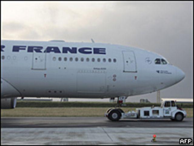 Avión de Air France en tierra