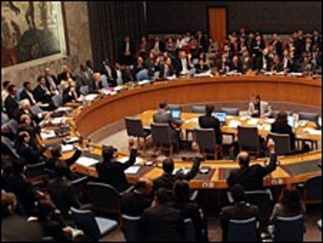 Votación del Consejo de Seguridad de la ONU