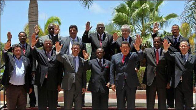 Presidentes de los países de Petrocaribe.