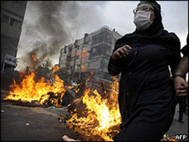 Opositores al presidente en Teherán el 13 de junio.
