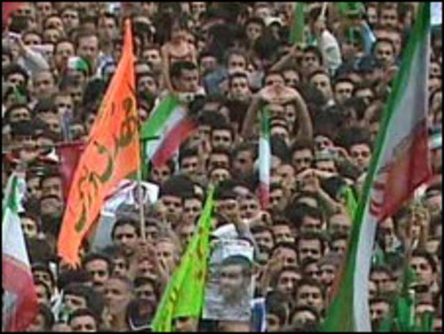 Simpatizantes del presidente Ahmadinejad