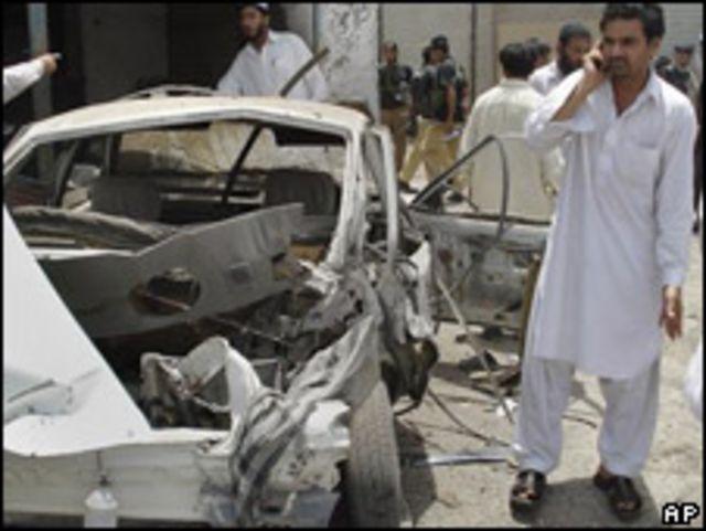 Explosión en mercado de Pakistán