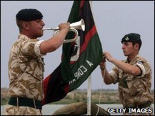 Soldados británicos en Irak