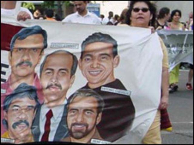 """Manifestación """"Free Five"""". Cortesía Comité Nacional por la Libertad de los Cinco Cubanos"""