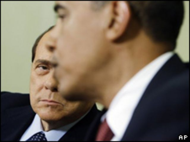 Silvio Berlusconi y Barack Obama