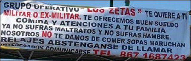 Manta de Los Zetas