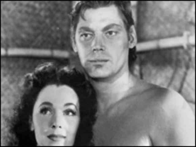 Johnny Weissmuller y Maureen O'Sullivan