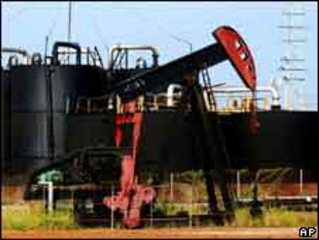 Pozo petrolero en Venezuela.
