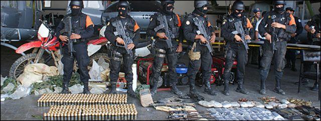 Un decomiso hecho por las autoridades guatemaltecas en Quiché. Cortesía: Policía Nacional Civil