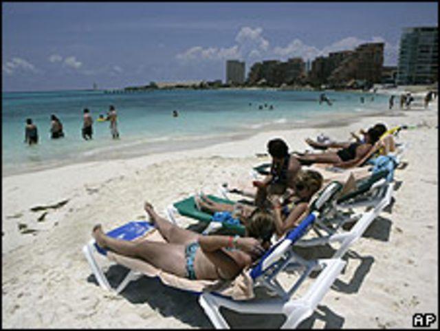 Imagen de una playa de Cancún el 12 de junio.