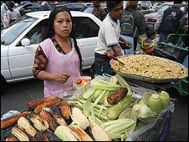Vendedora ambulante en México