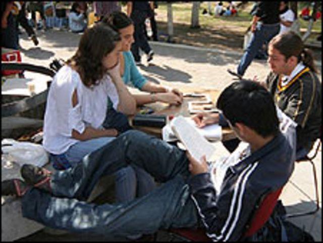 Estudiantes universitarios en México