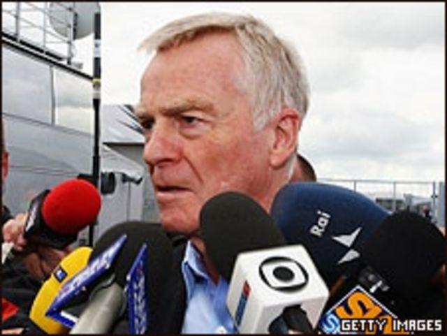Max Mosley, jefe de la FIA
