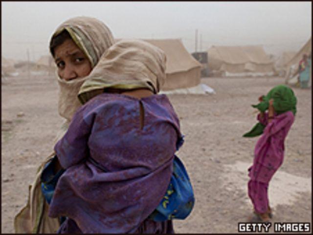 Desplazados del valle de Swat
