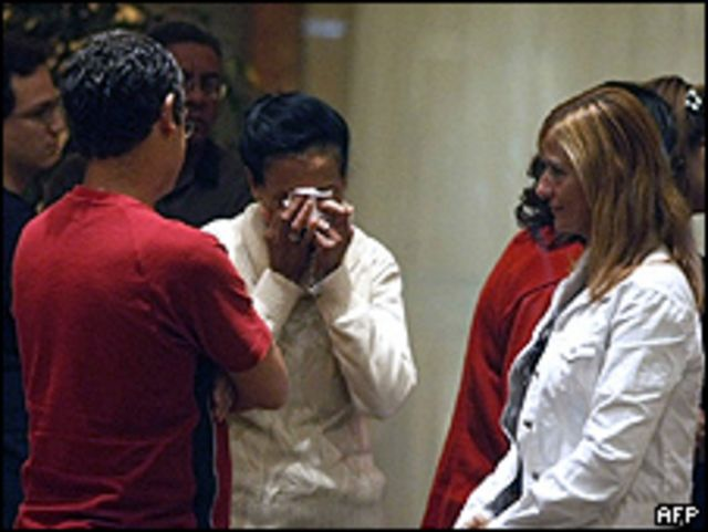 Familiares de los pasajeros del avión Air France que se accidentó. Foto de archivo:06/06/09