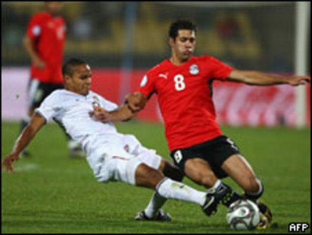لقطة من مباراة مصر والولايات المتحدة