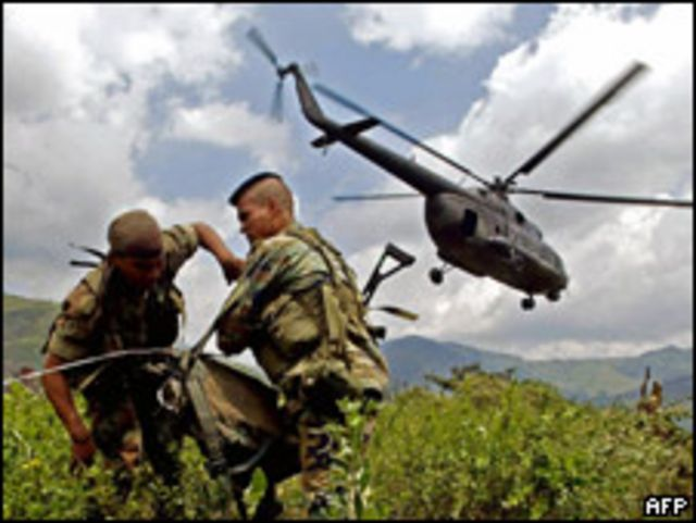 Imagen de archivo. Soldados colombianos.