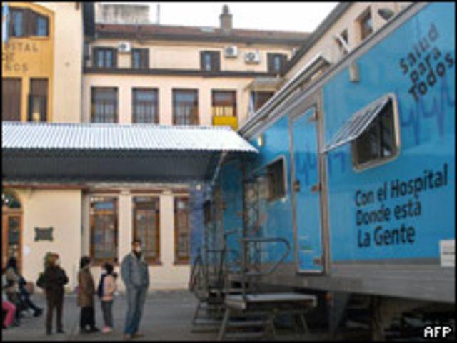 Hospital Gutierrez en Buenos Aires.
