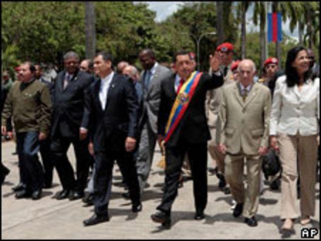 Presidentes y jefes de Estado de los países del ALBA.