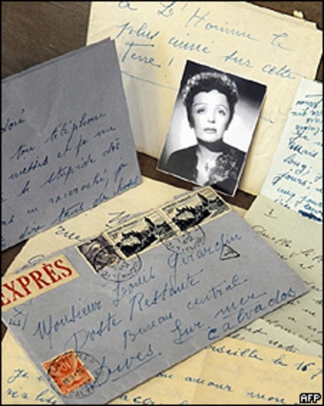 Cartas de Edith Piaf