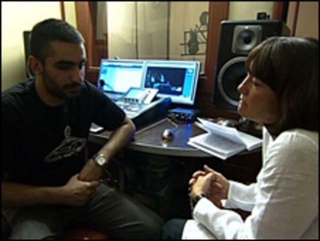 جين كوربن مع الموسيقار الإيراني