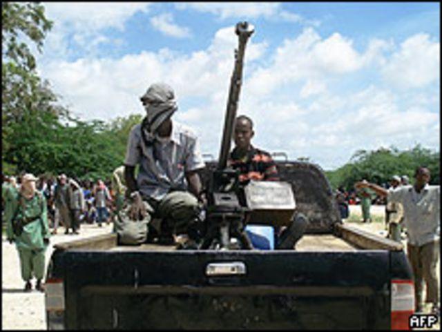 Rebeldes islámicos en Mogadiscio el 22 de junio.