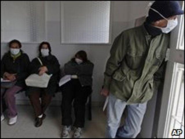 Pacientes en un hospital de Argentina