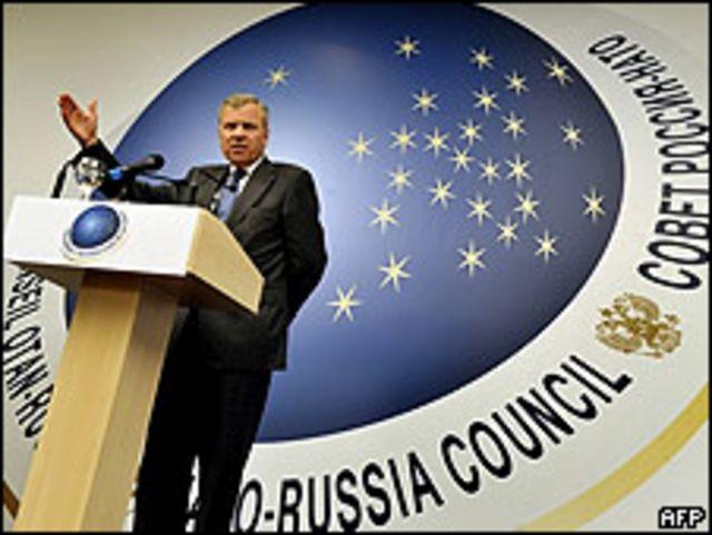 Jaap de Hoop Scheffer, secretario general de la OTAN.