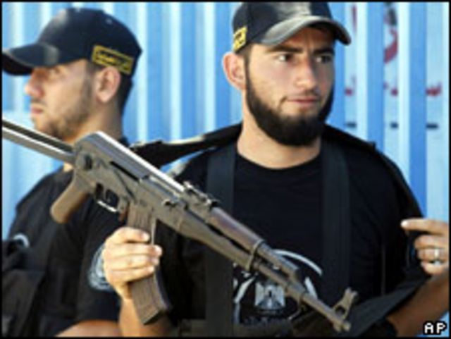 عناصر من قوة الامن التابعة لحماس في غزة